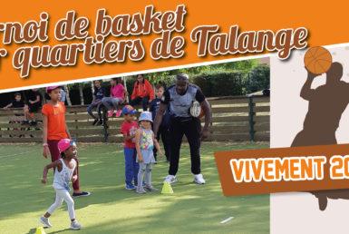 Tournoi de basket inter quartiers Moselis 2018 à Talange