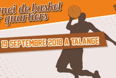 Tournoi de basket inter quartiers Moselis le 19 septembre à Talange