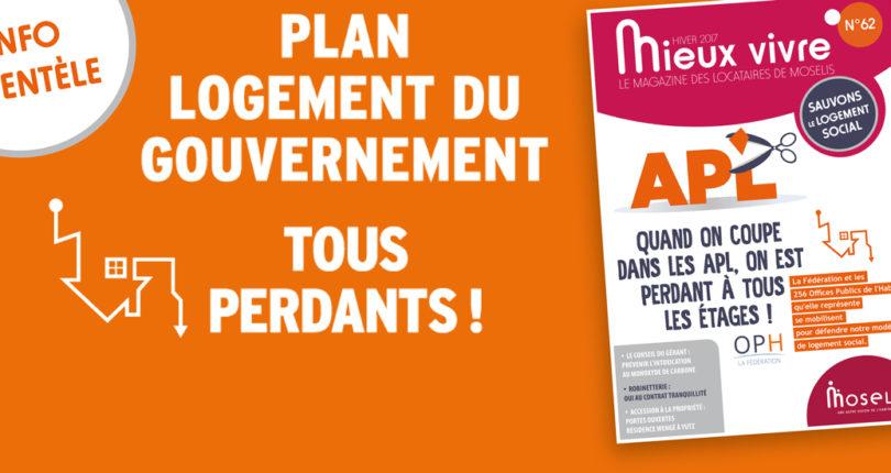 Plan logement du gouvernement
