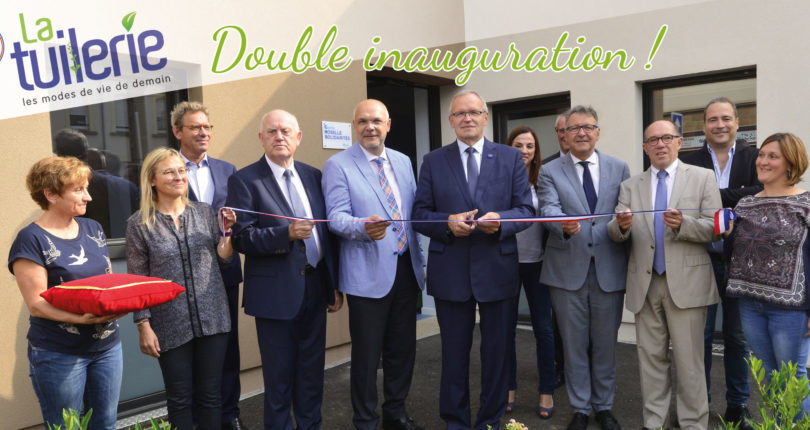 Ecoquartier La Tuilerie à Yutz : couper de ruban pour Moselis et le CD 57