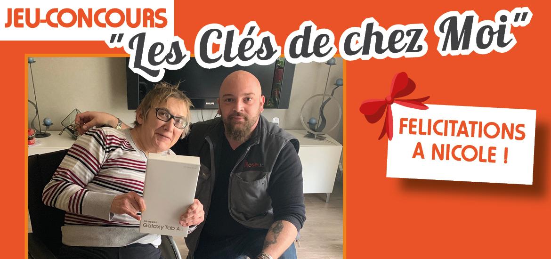 Jeu-concours Les Clés de Chez Moi, félicitations à Nicole