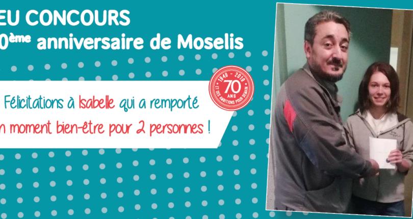 70ème anniversaire de Moselis : une locataire gagne un moment bien-être