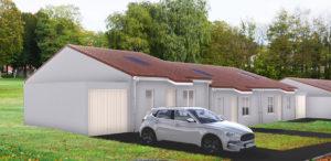 pavillons seniors Moselis standardisés : le projet de 8 pavillons à Morhange