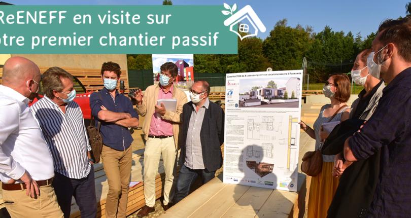 Une équipe GReENEFF en visite sur le chantier de notre premier PassivHaus