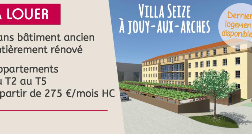 Jouy-aux-Arches : derniers appartements disponibles à la location