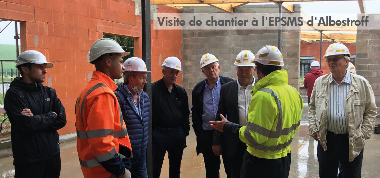 Visite de chantier à l'EPSMS d'Albestroff